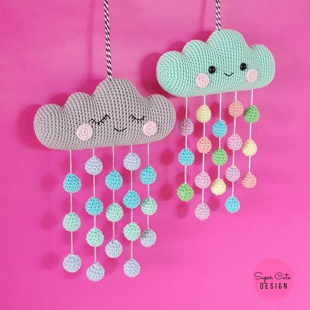 Cloud Mobile Crochet Pattern by Super Cute Design Shop