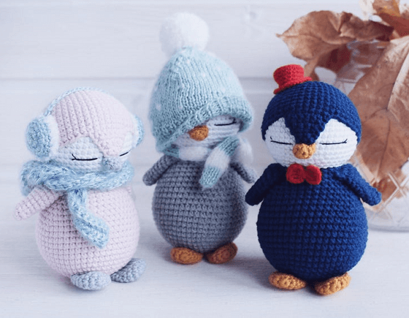 Crochet Baby Penguin Toy Pattern by Toys Crochet Studio
