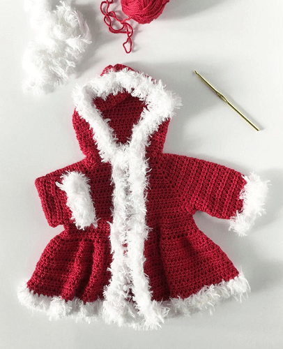 Crochet Christmas Santa Sweater Pattern by Daisy Farm Crafts