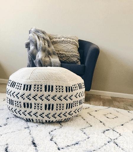 Crochet Floor Pouf Pattern by Sweet Everly B