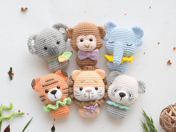 Crochet Mini Baby Toys Pattern by R Nata
