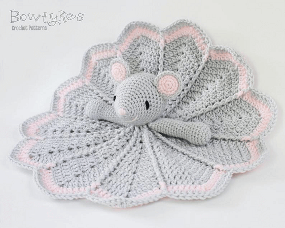 Crochet Mouse Lovey Blanket Pattern by Bowtykes