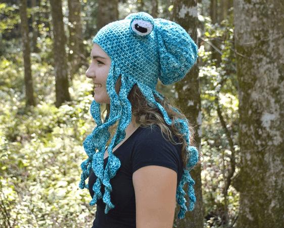 Crochet Octopus Hat Pattern by Nature's Hook