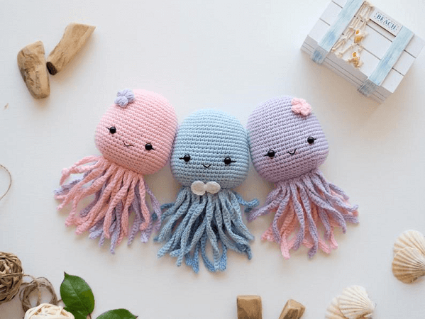 Crochet Octopus Toy Pattern by R Nata