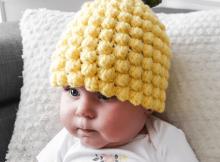 Crochet Pineapple Baby Hat Pattern by Crochet Mille
