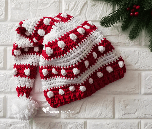 Crochet Santa Hat Pattern by Crochet For You Blog