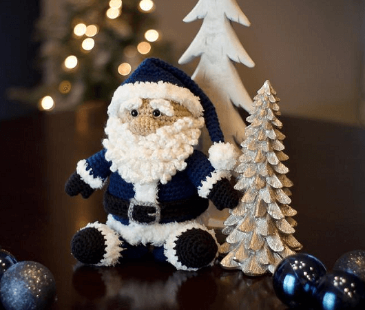 Crochet Santa Pudgy Pal Pattern by Bri Abby HMA