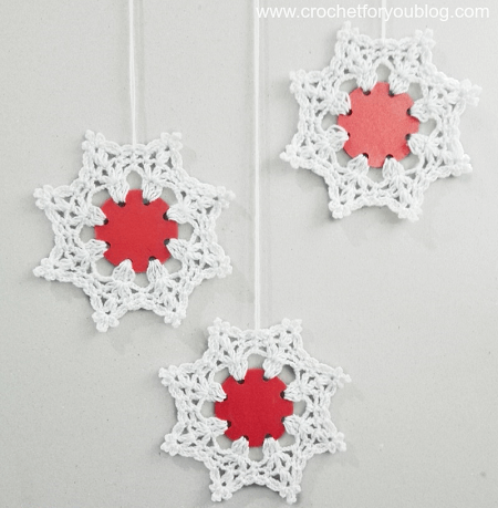Crochet Snowflake Using Punched Hole Pattern by Crochet For You