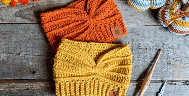 Double Threat Ear Warmer Crochet Pattern by Crazy 4 Crochet Momma