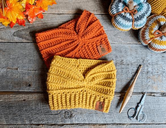 Double Threat Ear Warmer Crochet Pattern by Crazy 4 Crochet Momma