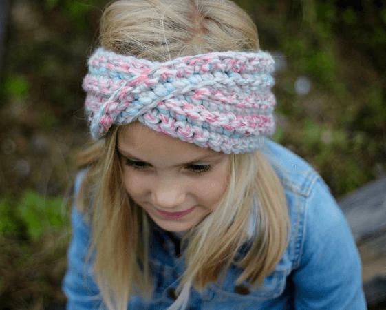 Easy Crochet Ear Warmer Pattern by Hazel Bea