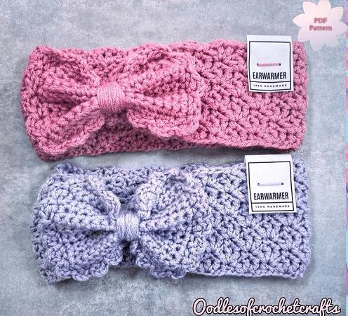 Felicity Ear Warmer Crochet Pattern by Oodles Of Crochet