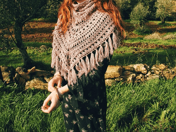 Folklore Crochet Shawl Pattern by The New Moon Crochet
