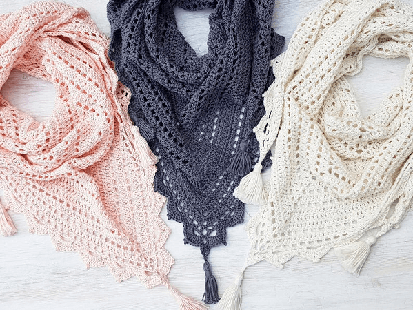 Foxtrot Shawl Crochet Pattern by Rocketgirl Crochet