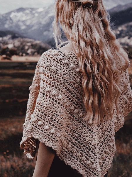 Lace Shawl Crochet Pattern by Darling Jadore