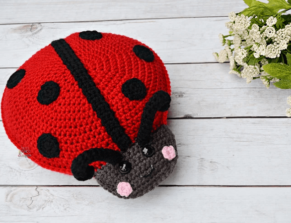 Ladybug Kawaii Cuddler Crochet Pattern by 3am Grace Designs