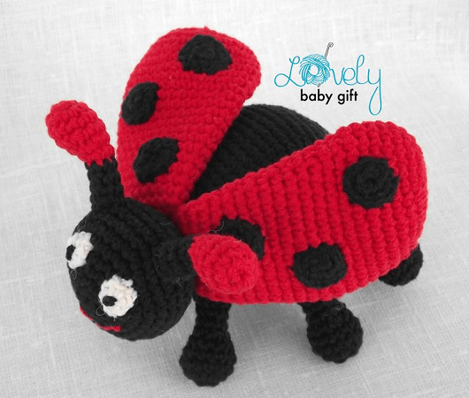 Crochet Ladybird Toy Pattern by Lovely Baby Gift