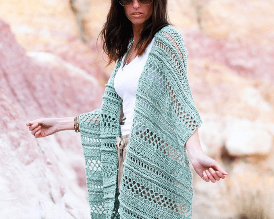 Light Shawl Crochet Pattern by Mama In A Stitch