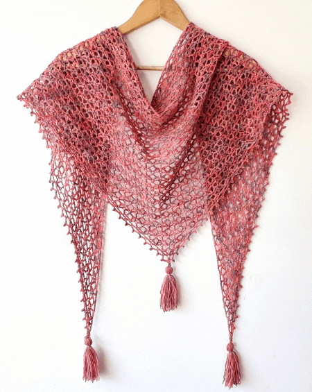 Little Fictions Shawl Crochet Free Pattern by Annie Design Crochet