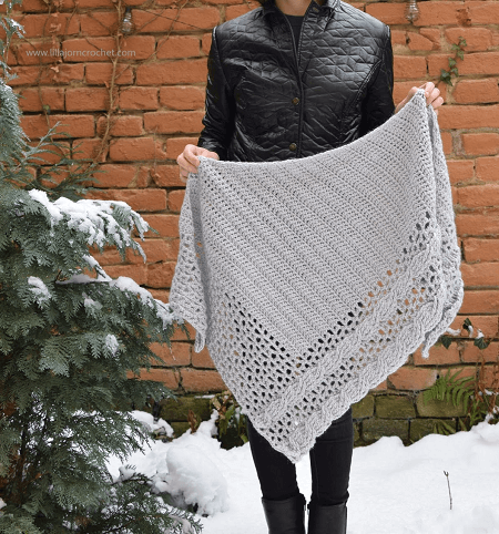 Living Lagom Shawl Crochet Free Pattern by Lilla Bjorn Crochet
