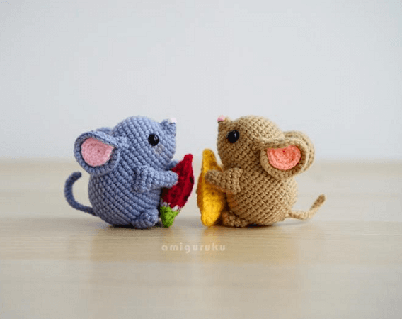 Mochi, The Mouse Amigurumi Pattern by Amiguruku