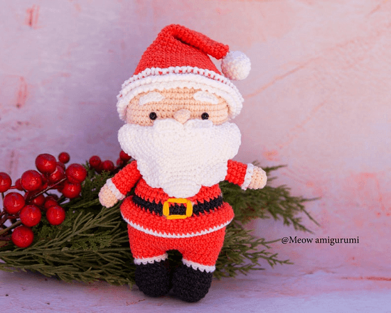 Mr. Santa Crochet Pattern by Meow Knitting Boutique