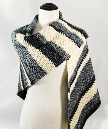 Ombre Shawl Crochet Pattern by Petals To Picots