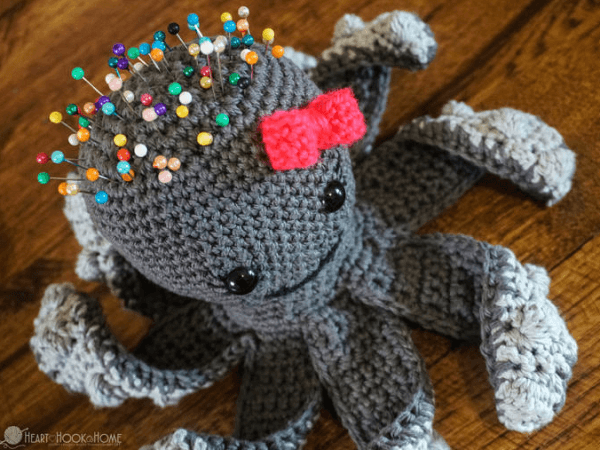 Penelope, The Octopus Pin Cushion Crochet Pattern by Heart Hook Home