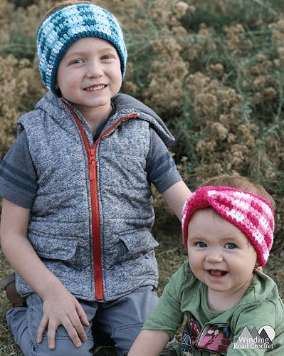 Plaid Crochet Ear Warmer Pattern by Winding Road Crochet