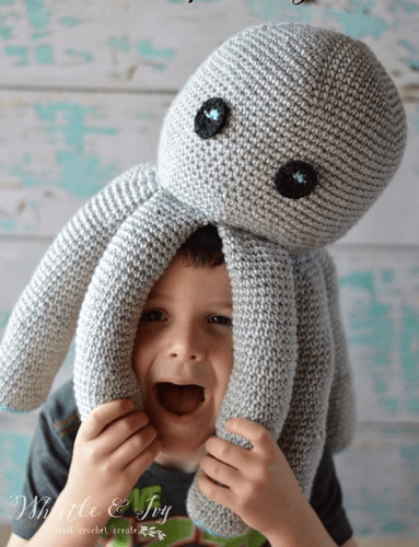 Plush Octopus Free Crochet Pattern by Whistle And Ivy