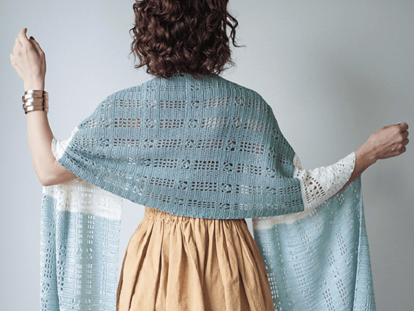 Renata Shawl Crochet Pattern by Jane Vanselous