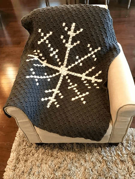 Snowflake Afghan Crochet Pattern by Angela Plunkett