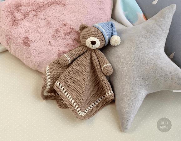 Teddy Bear Lovey Crochet Pattern by Tilly Some