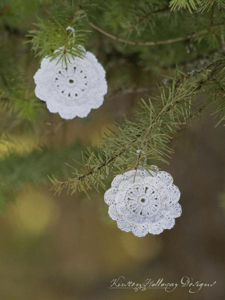 Victorian Blush Snowflake Crochet Pattern by Kirsten Holloway Designs