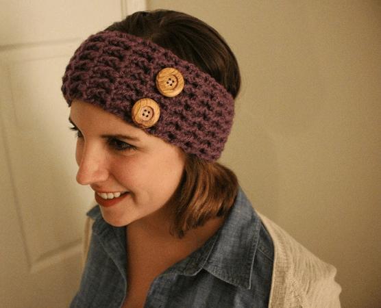 Waffle Stitch Ear Warmer Crochet Pattern by Sewrella
