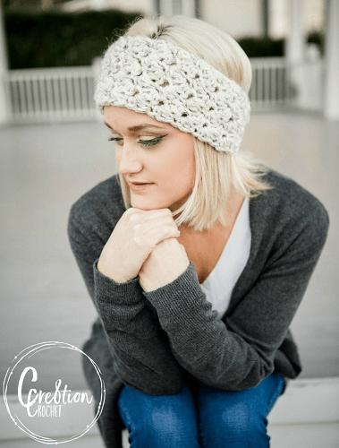 Winter Skies Ear Warmer Crochet Pattern by Cre8tion Crochet