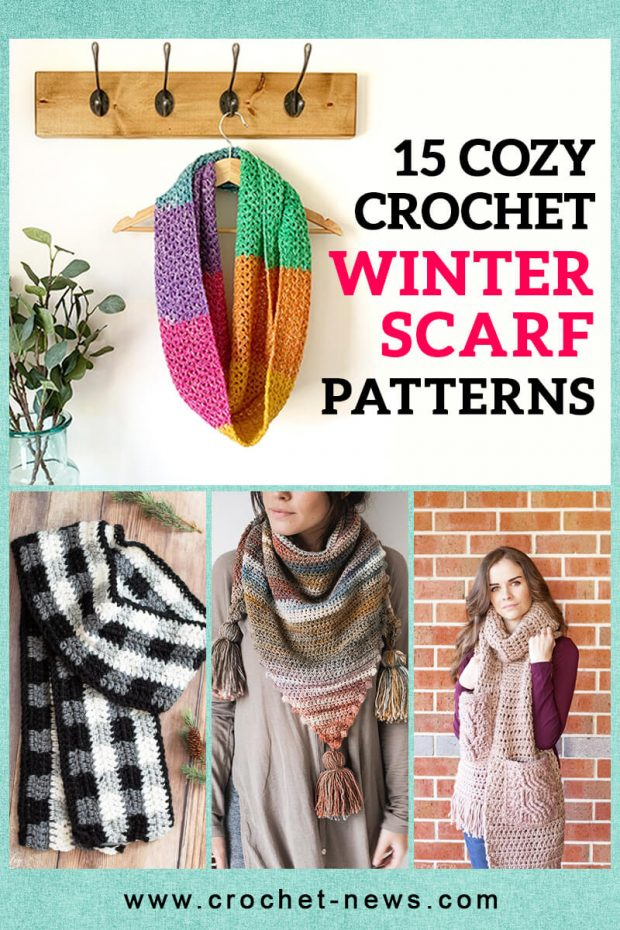 15 COZY CROCHET WINTER SCARF PATTERNS