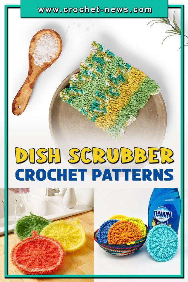 CROCHET DISH SCRUBBER PATTERNS