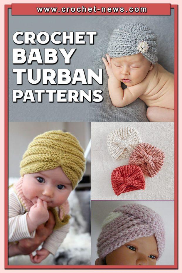 CROCHET BABY TURBAN PATTERNS