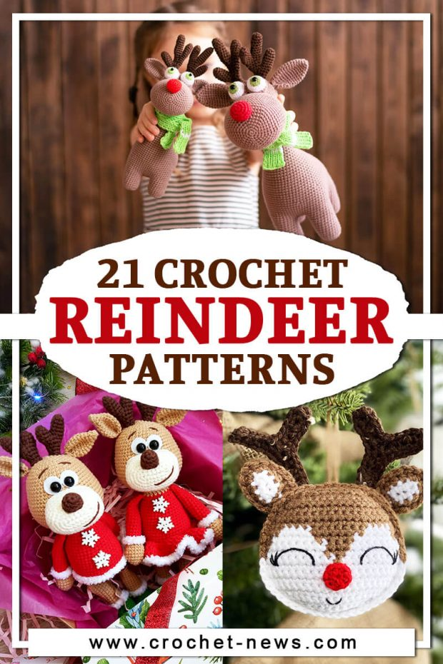 21 CROCHET REINDEER PATTERNS