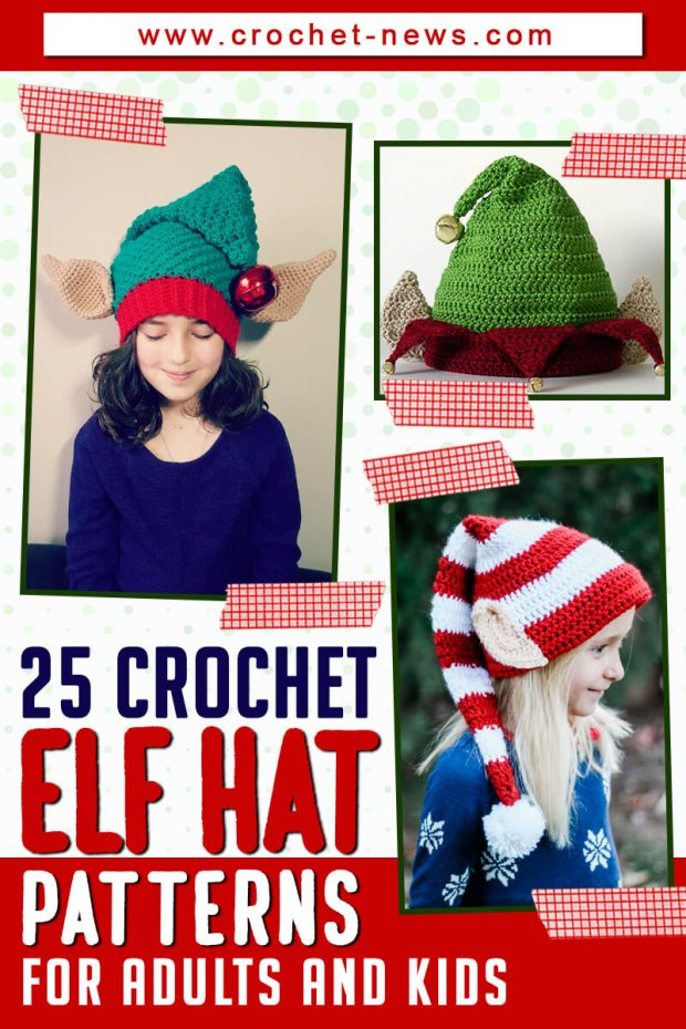 CROCHET ELF HAT PATTERNS FOR ADULTS AND KIDS