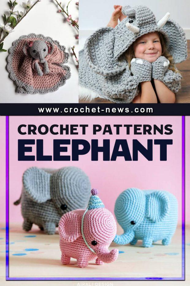 CROCHET ELEPHANT PATTERNS