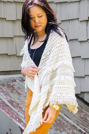 Crochet Boho Shawl Pattern By 1dogwoof