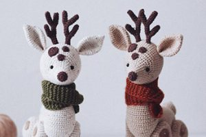 Crochet Deer Amigurumi Pattern By SweetPatternsLab