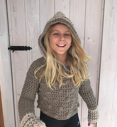 Crochet Hooded Sweater without the Front Pocket By CapitanaUncino