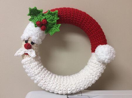 Crochet Santa Wreath Pattern By Teddywings