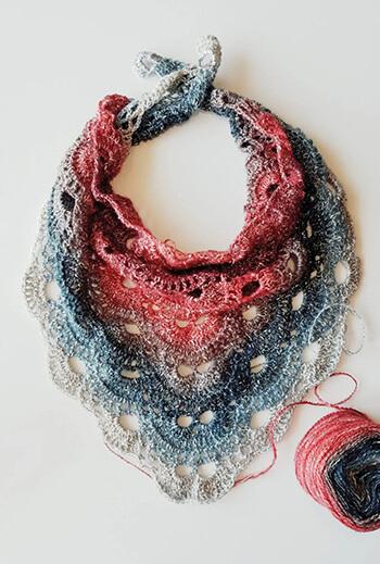 Crochet Virus Shawl Pattern in Moonstone By Handmade by Raine