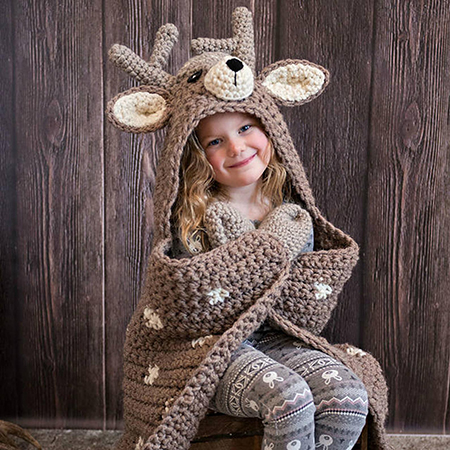 Crochet Woodland Deer Blanket Pattern By MJsOffTheHookDesigns