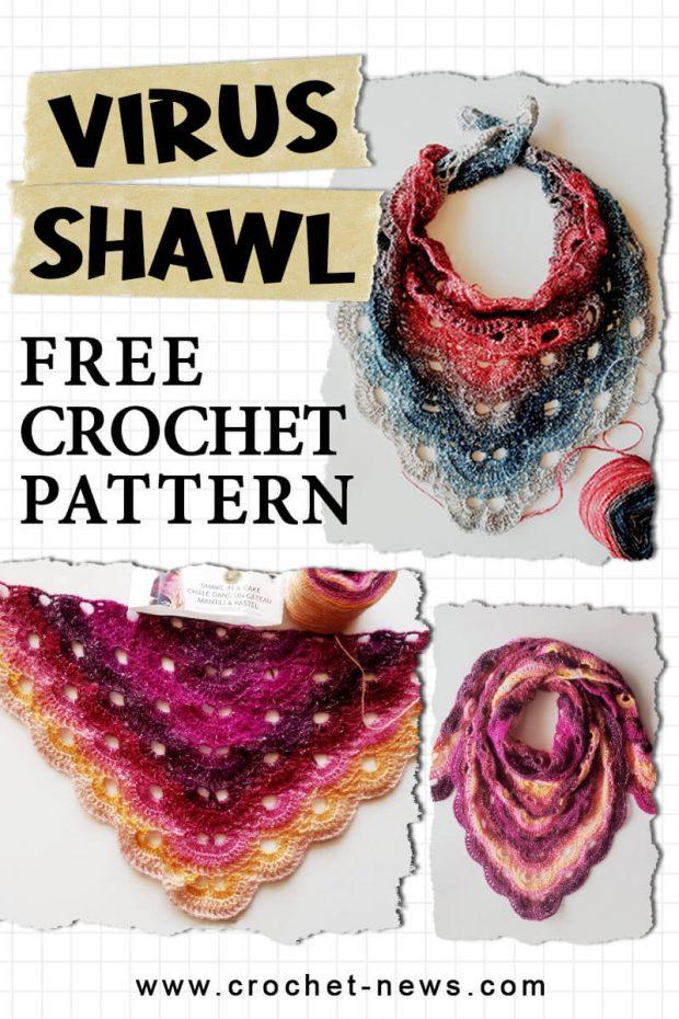 FREE CROCHET PATTERN VIRUS SHAWL