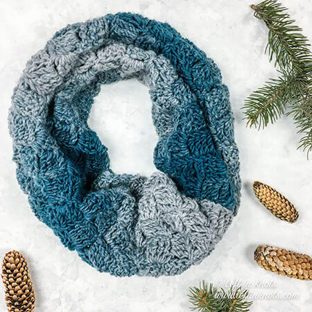 Ombre Crochet Cowl By Left In Knots